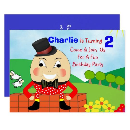 Humpty dumpty clipart party. Themed kids birthday editable