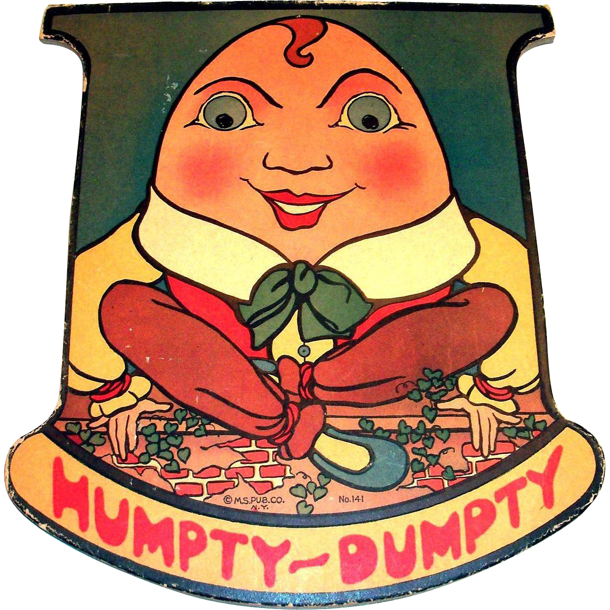Vintage the mother goose. Humpty dumpty clipart pattern