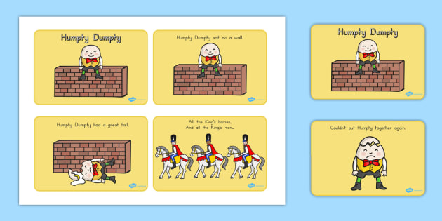 Humpty dumpty clipart story. Sequencing a stories