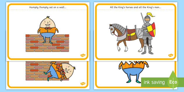 Humpty dumpty clipart story. Sequencing cards twinkl