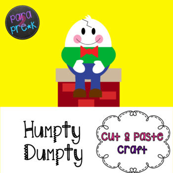 Nursery rhymes cut and. Humpty dumpty clipart template