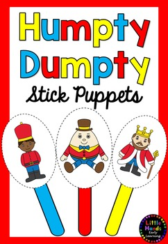 Humpty dumpty clipart template. Nursery rhyme puppets