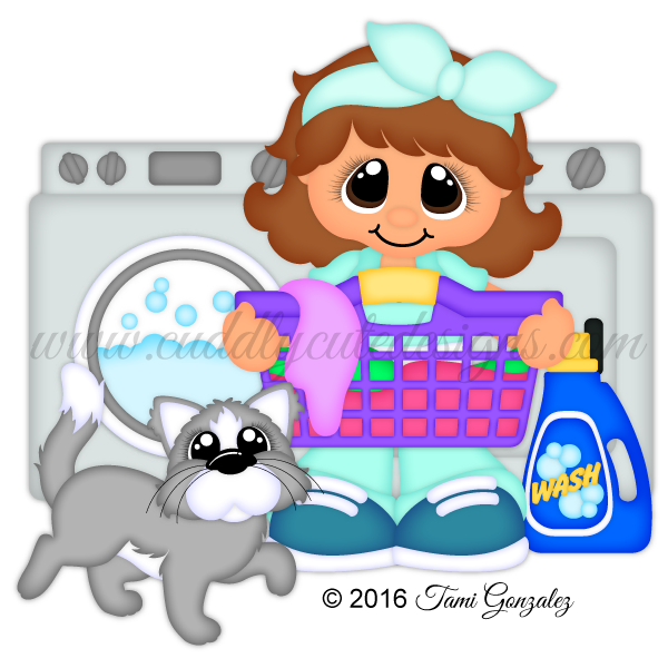 Laundry day cutie dollies. Humpty dumpty clipart title