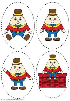 Humpty dumpty clipart toddler. Nursery rhyme puppets rhymes