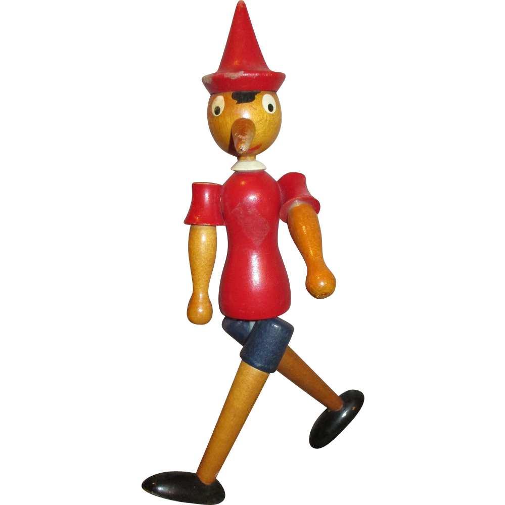 Vintage wooden pinocchio doll. Humpty dumpty clipart walking