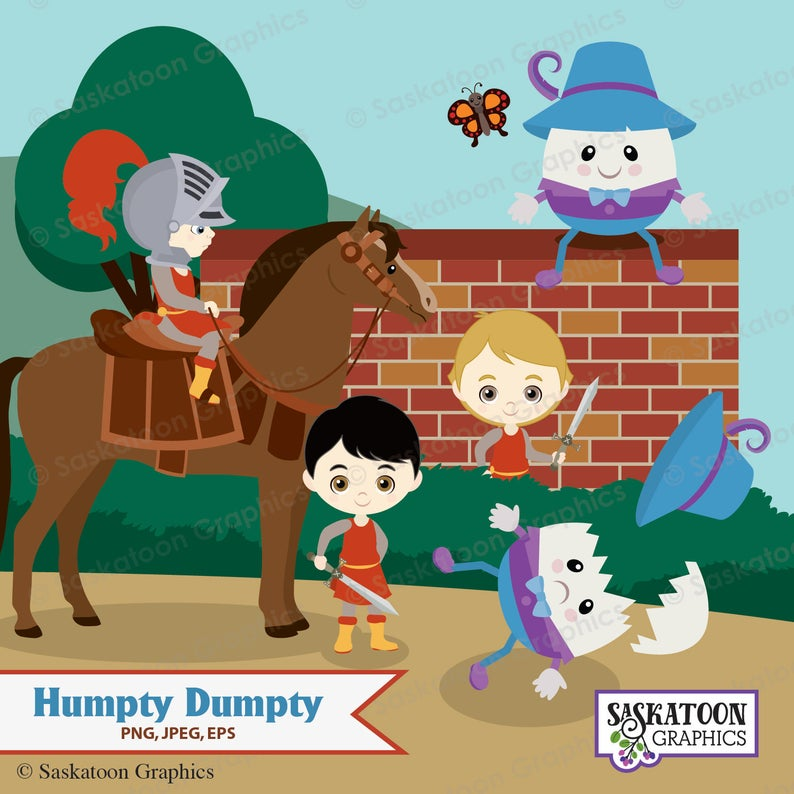Humpty dumpty clipart wall. Sat on a instant
