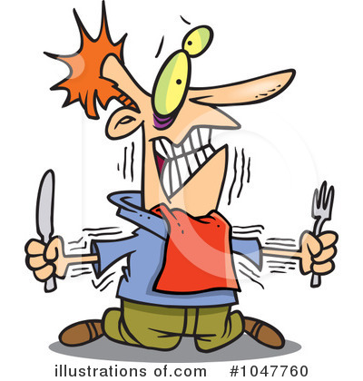Hungry clipart. Illustration by toonaday royaltyfree