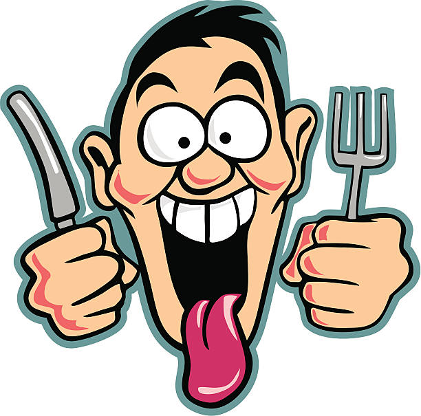 collection of faces. Hungry clipart