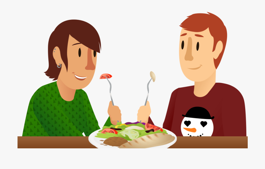 Hot eating transparent . Hungry clipart dinner