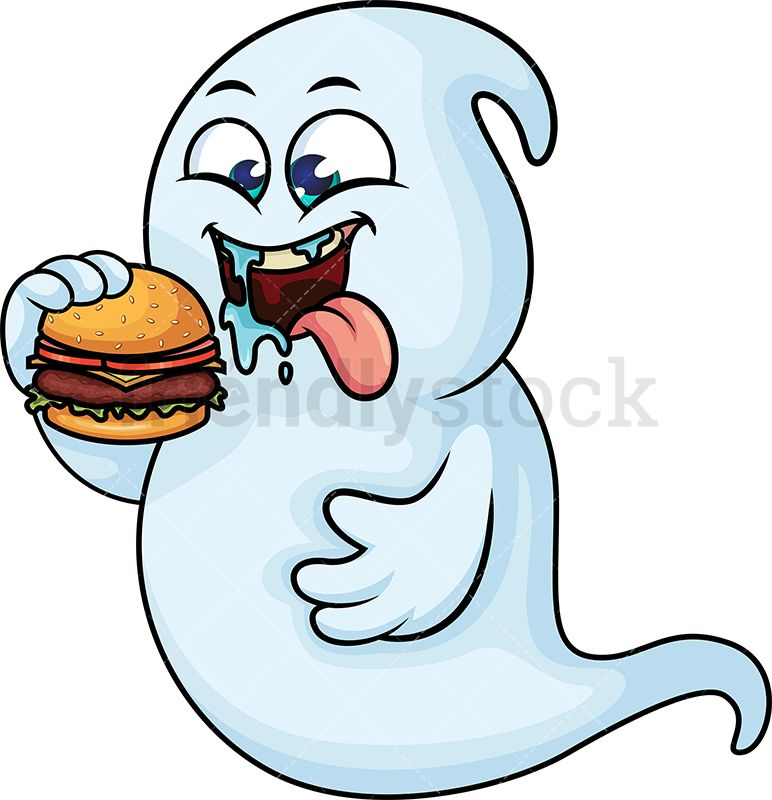 Hungry clipart eating. Ghost hamburger art ideas