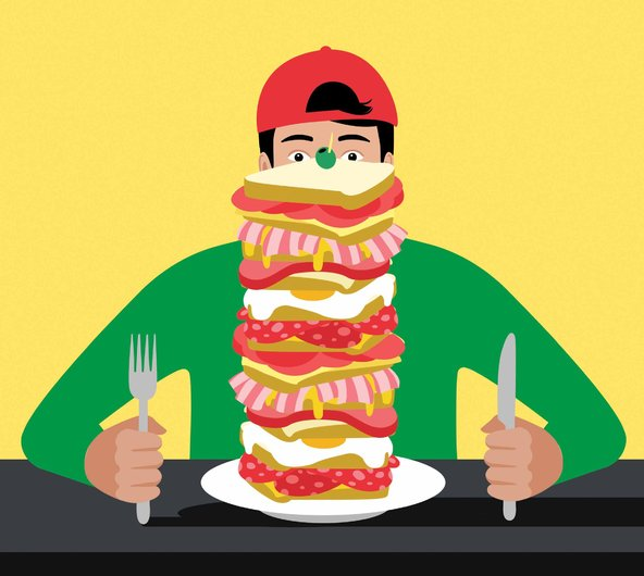 Hungry clipart eating well. The always teenage boy