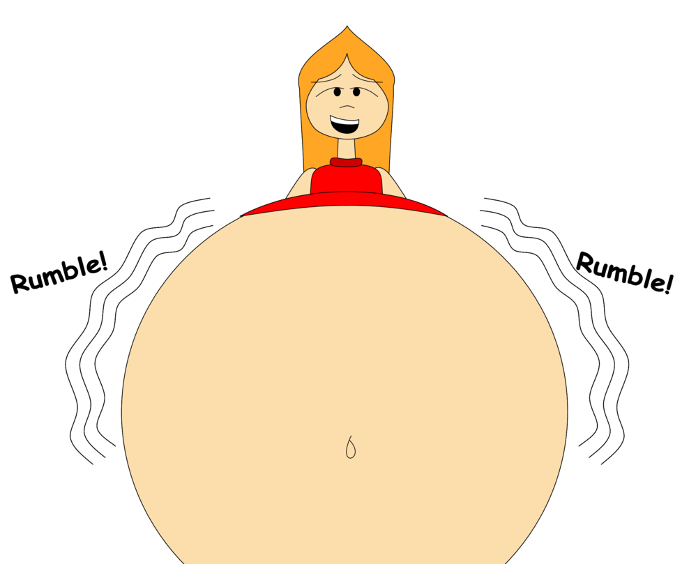 Hungry clipart famished. Candace s rumbling belly