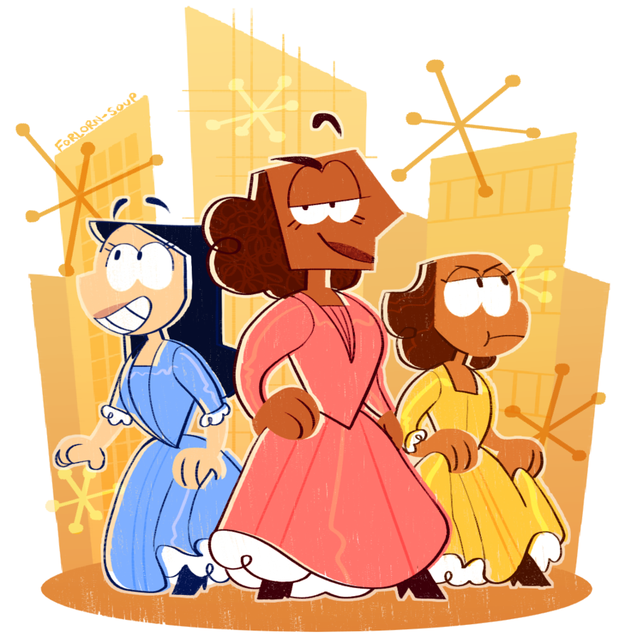 Schuyler sisters by soup. Hungry clipart forlorn