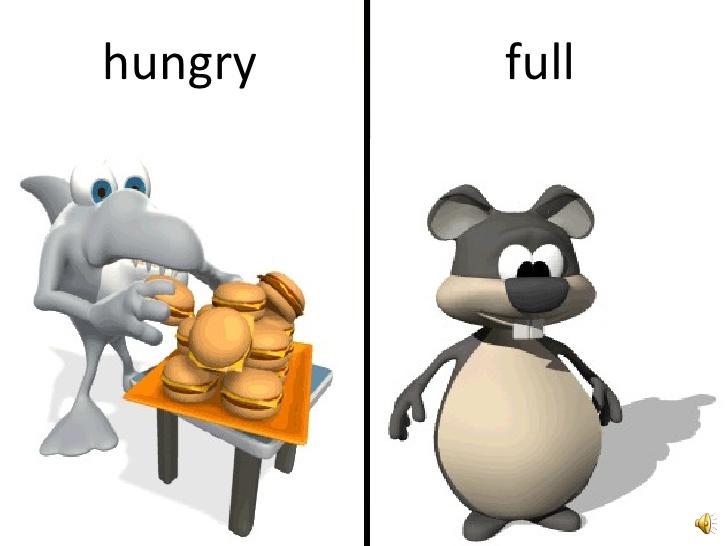 Aaaoppositesbasic . Hungry clipart full