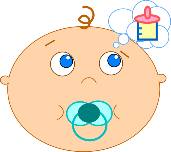 Baby clip art at. Hungry clipart full