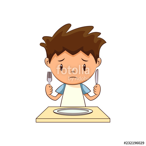 Sad stock image and. Hungry clipart hungry child