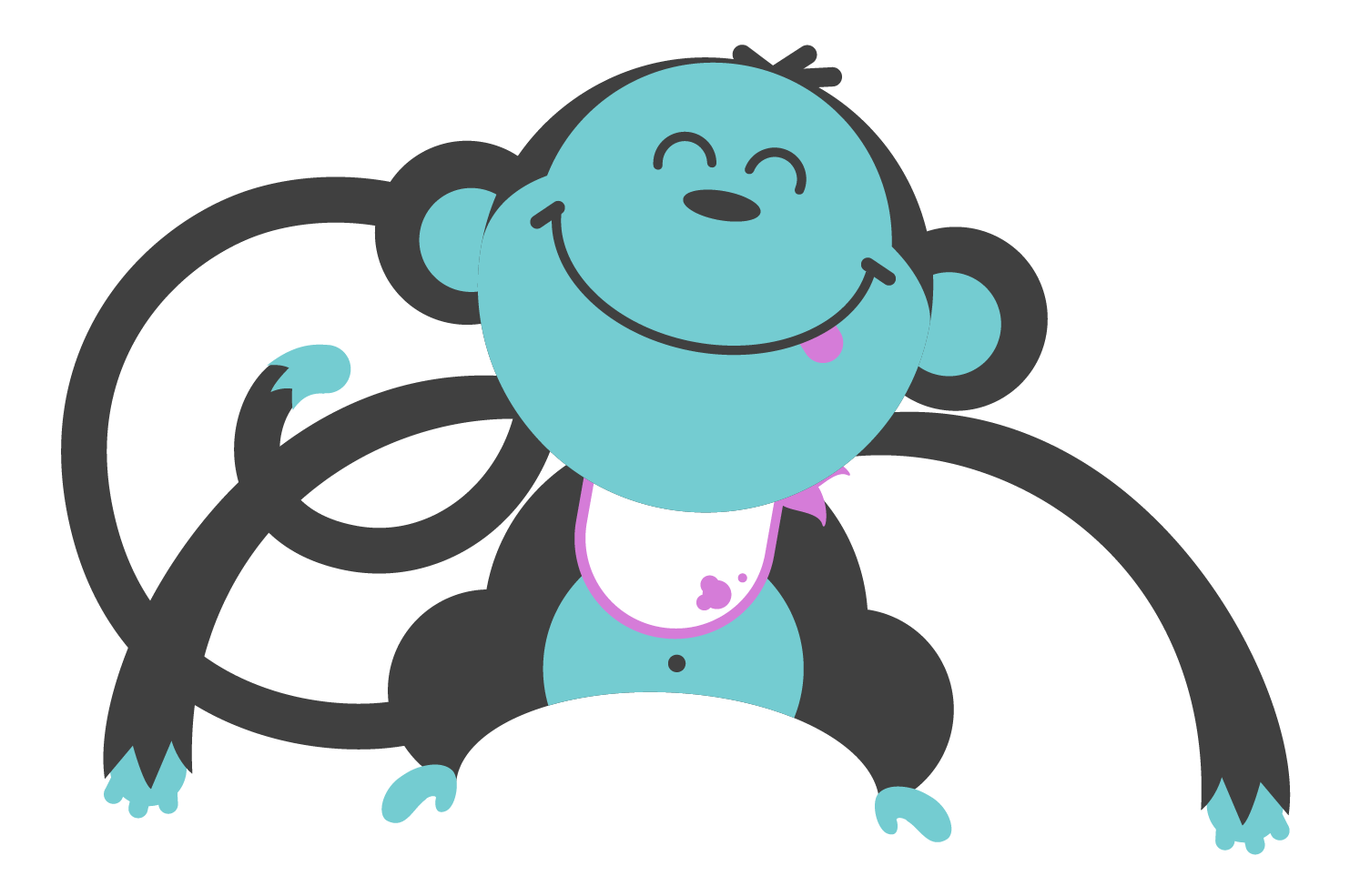 Hungry clipart hungry family. Little monkey