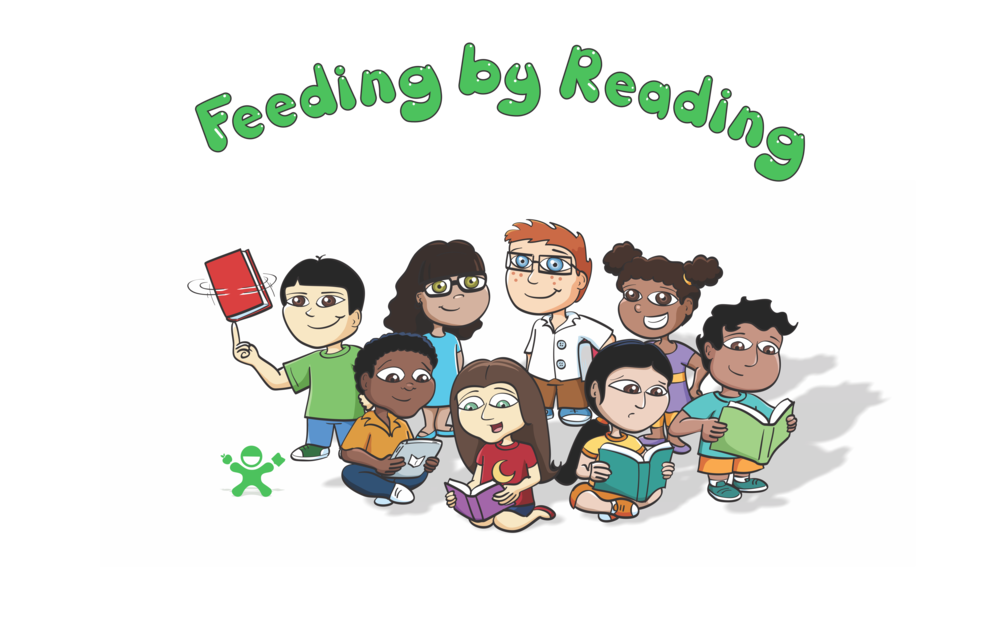 Hungry clipart hungry kid. Kids feeding by reading