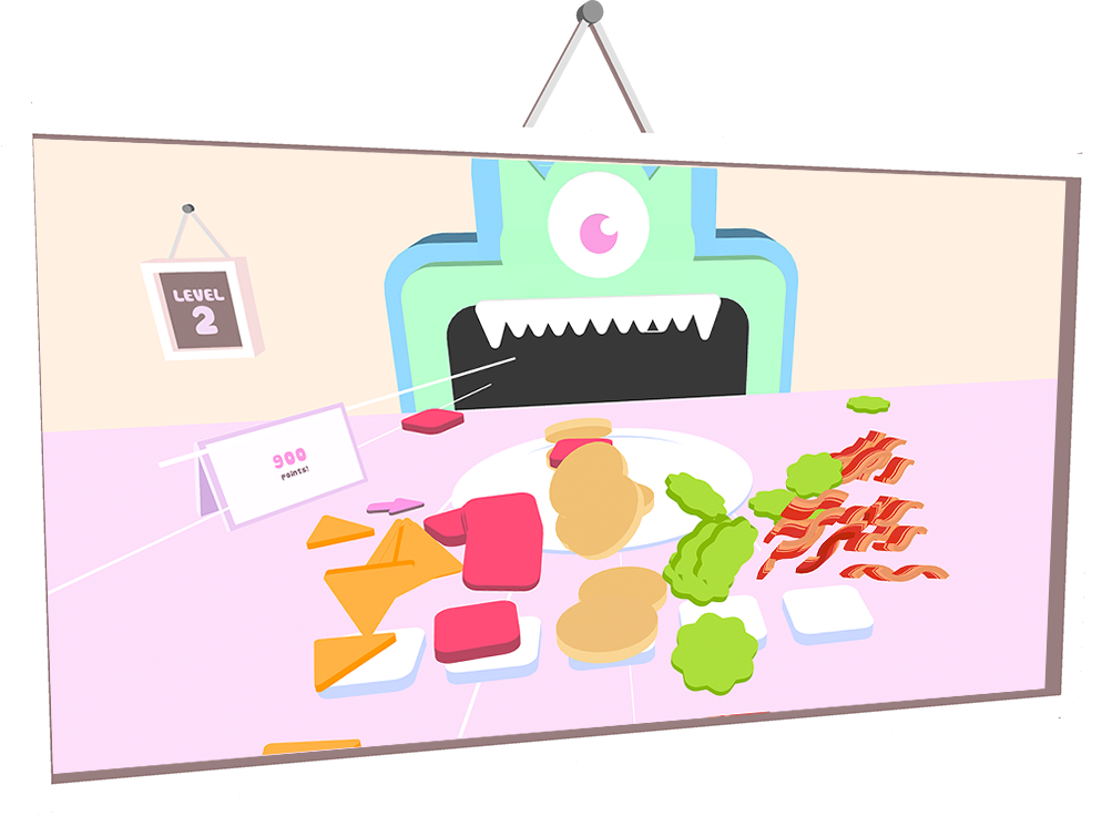 Hungry clipart hungry monster. Want burger feed its