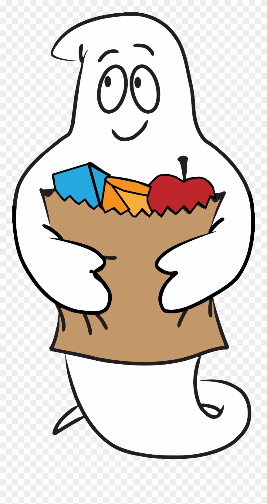 Spooky ghost to be. Hungry clipart logo