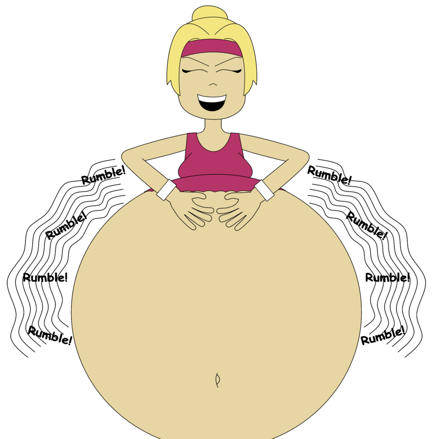 Hungry clipart rumble. Grianna s rumbling belly