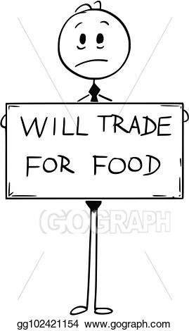 Hungry clipart sad. Clip art vector cartoon