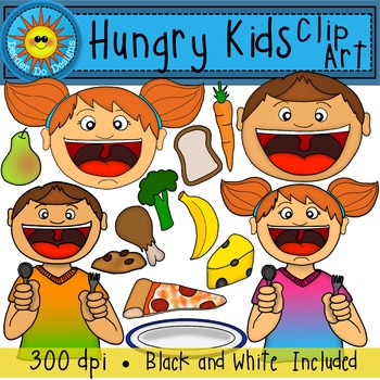Kids and food clip. Hungry clipart sunday lunch
