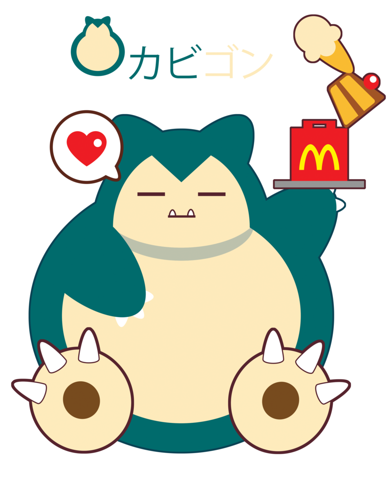 Snorlax for fb friend. Hungry clipart tengo