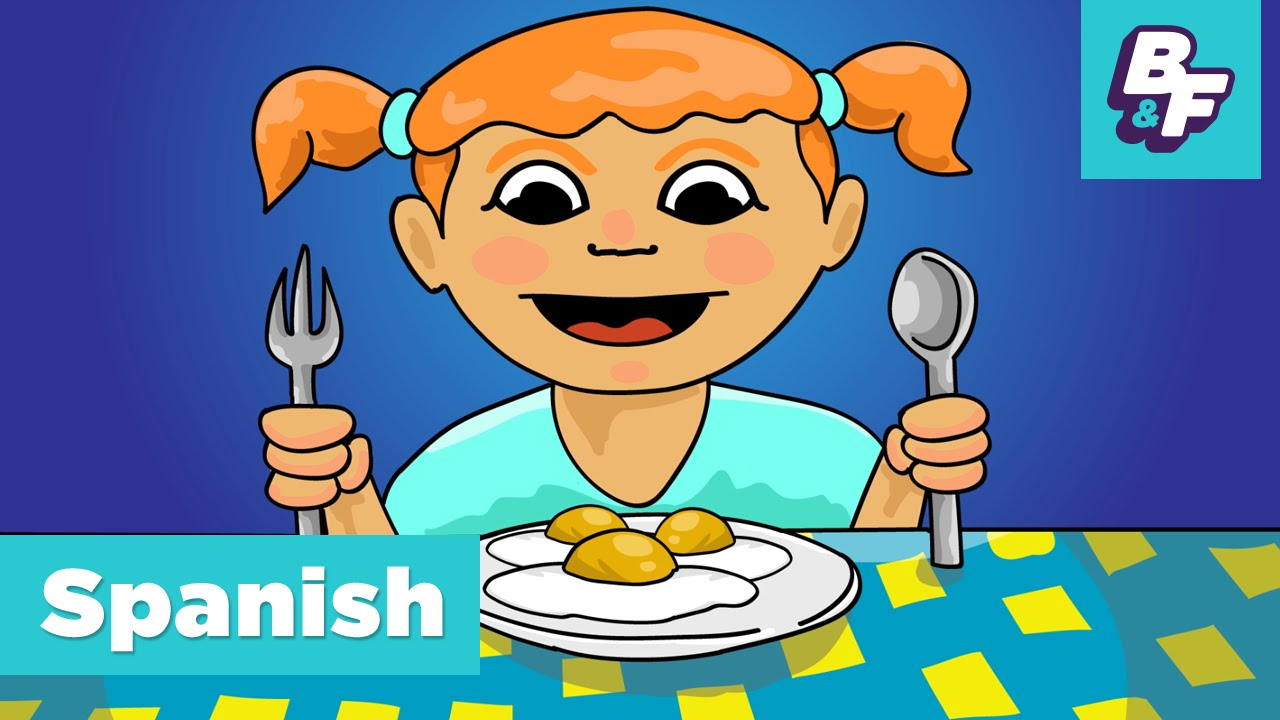 Hungry clipart tengo. Learn spanish food vocabulary