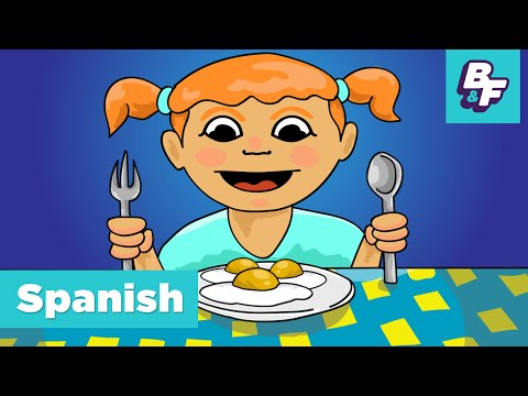 Learn spanish food vocabulary. Hungry clipart tengo
