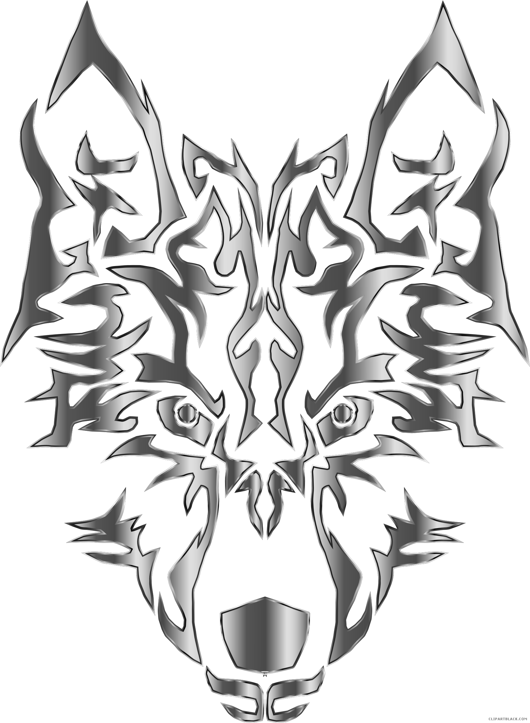 Hungry wolf clipartblack com. Wolves clipart black and white