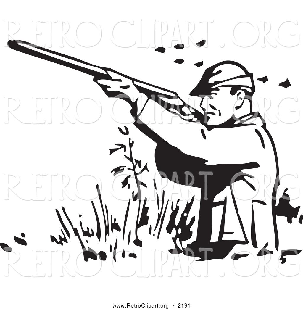 Shooting . Hunter clipart