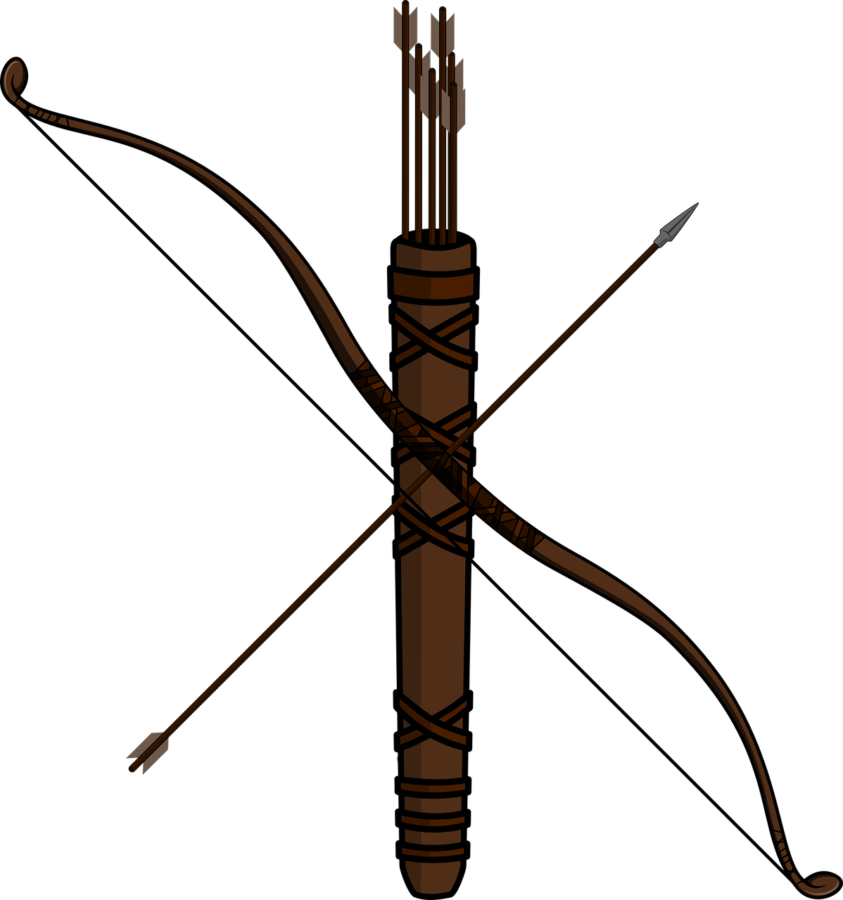 Bow and arrow hunting. Hunter clipart archery