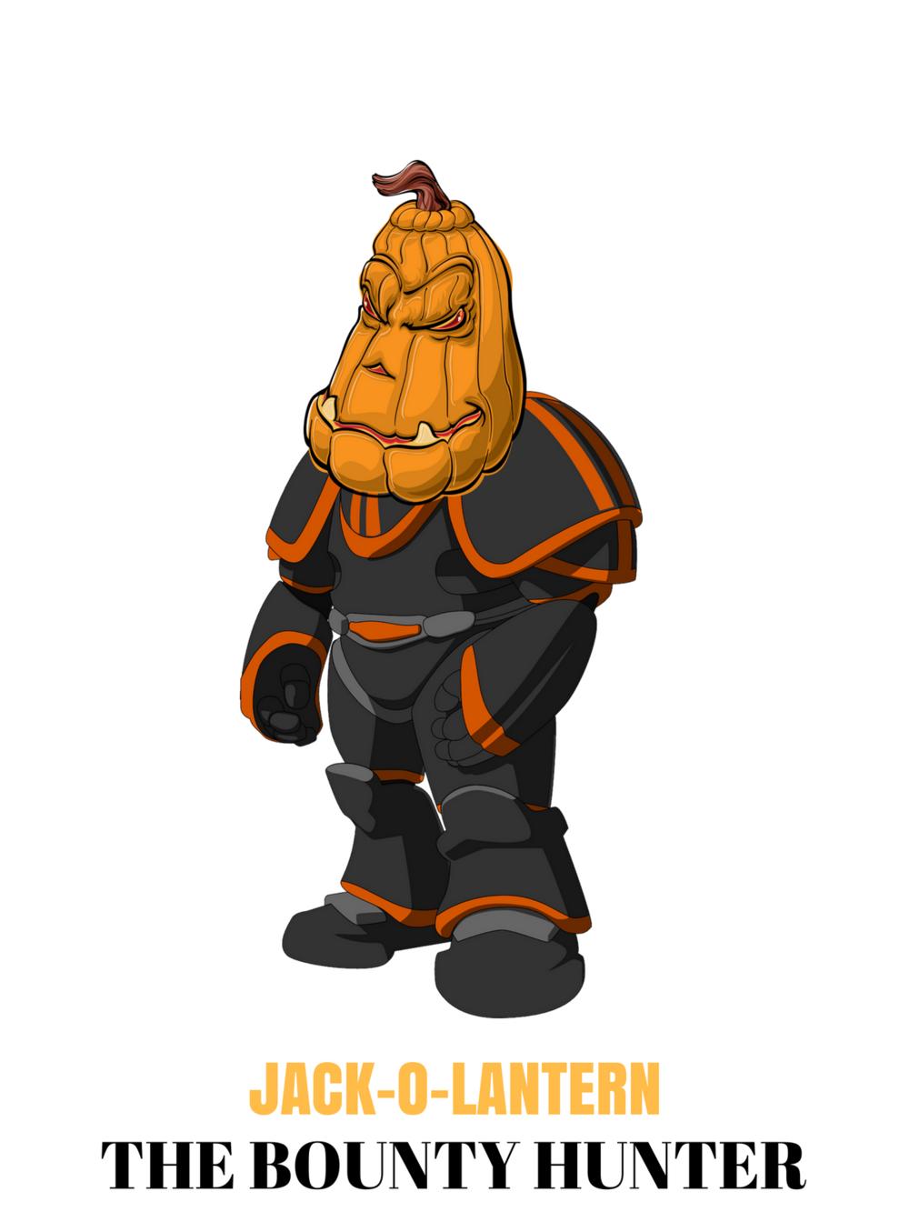 Hunter clipart bounty hunter. Jack o lantern the