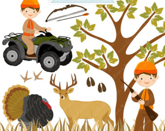 Hunting clipart animal hunting. Etsy
