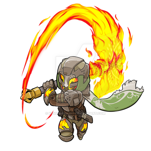 Hunter clipart character. Destiny battle axe by