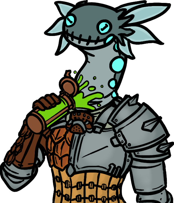 Wiggler helm potion drink. Hunter clipart character