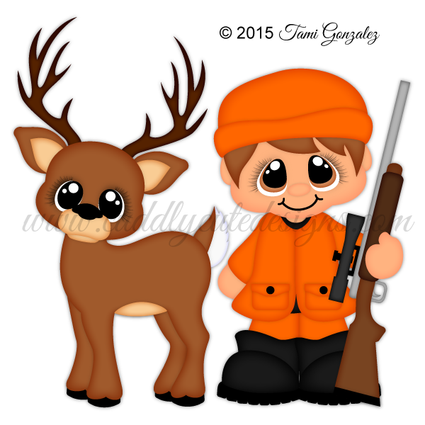 Gun hunter polymer clay. Hunting clipart silhouette