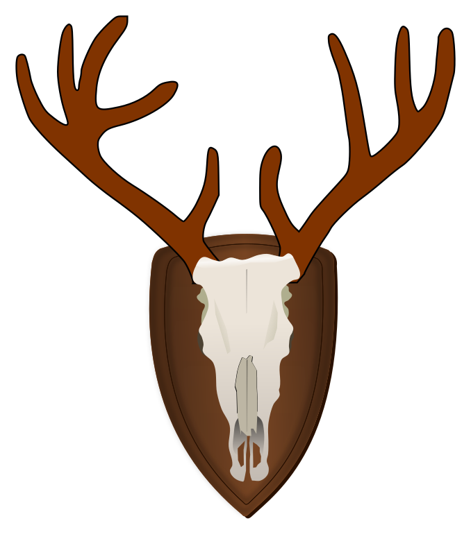 Hunter trophy cartoon with. Hunting clipart deer rifle