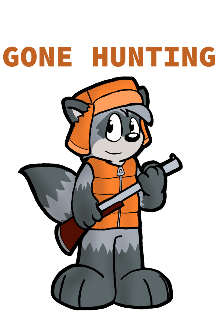 Gone hunting by cartcoon. Hunter clipart deer rifle