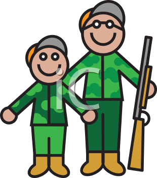 Hunters illustrations royalty free. Hunting clipart father and son