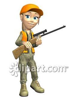 Com school edition demo. Hunting clipart female hunter