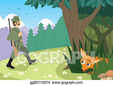 Vector art season eps. Hunting clipart forest