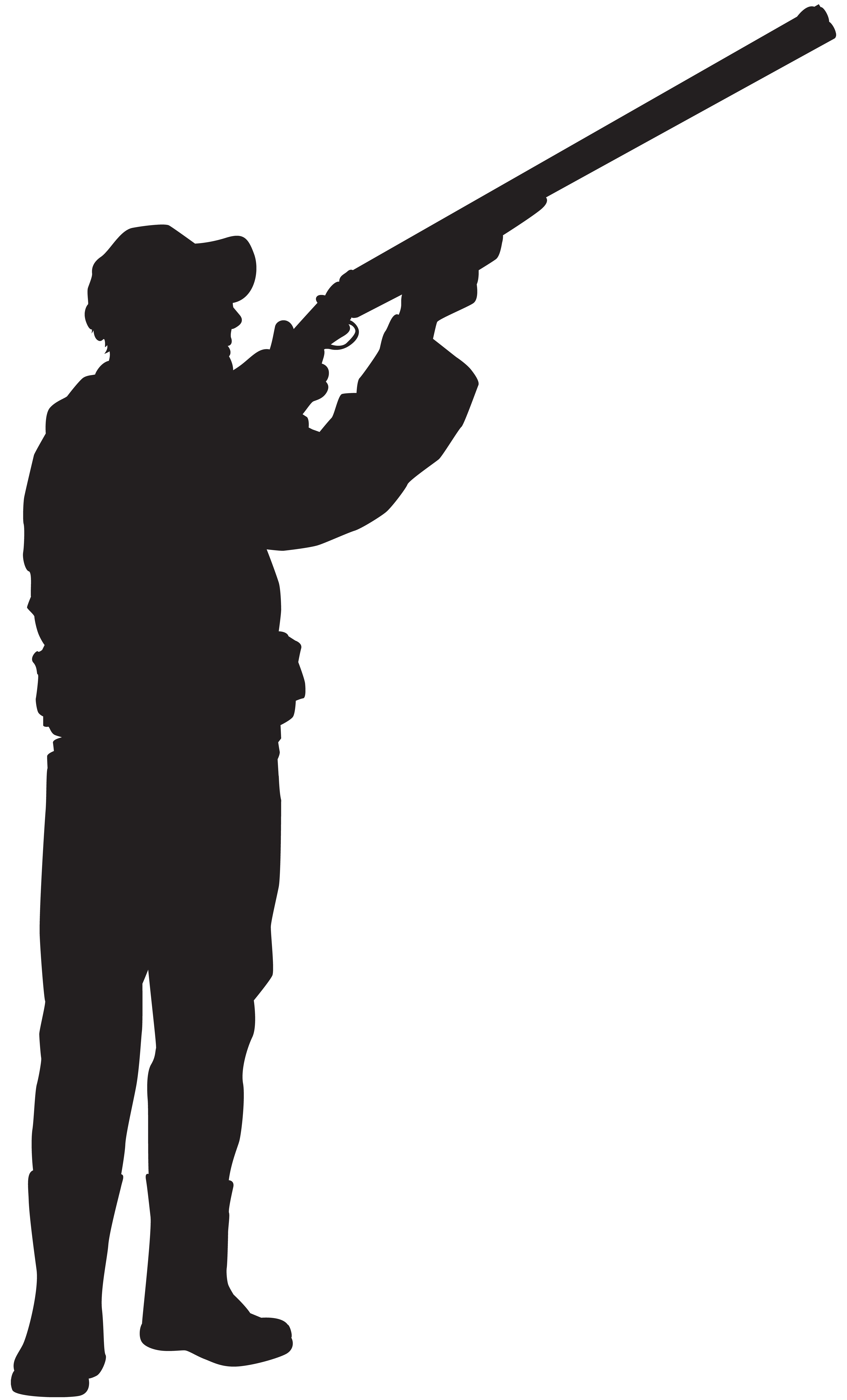 Silhouette clip art hunter. Hunting clipart black and white