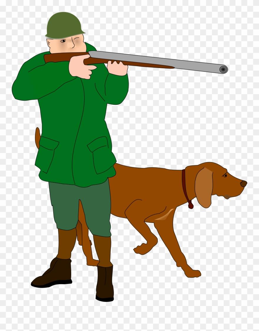 Hunting clipart clip art. Deer dog game hunter