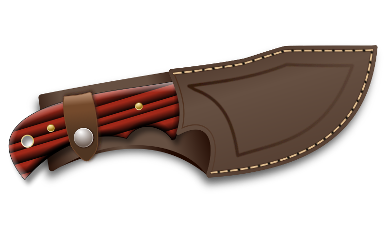 Knife in a sheath. Hunter clipart hunting