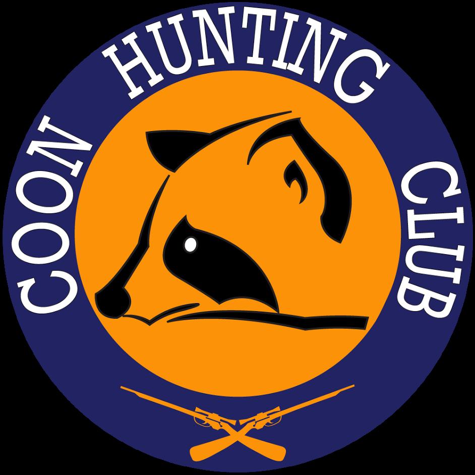 Coon club. Hunter clipart hunting equipment