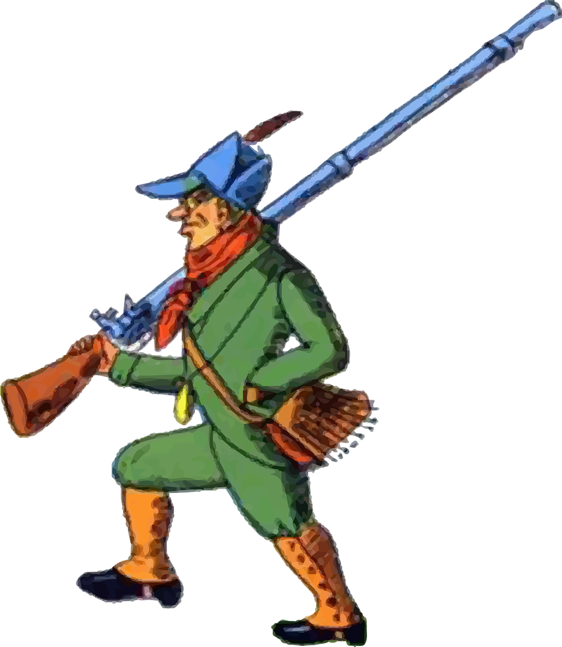 How to hunt an. Hunter clipart hunting equipment