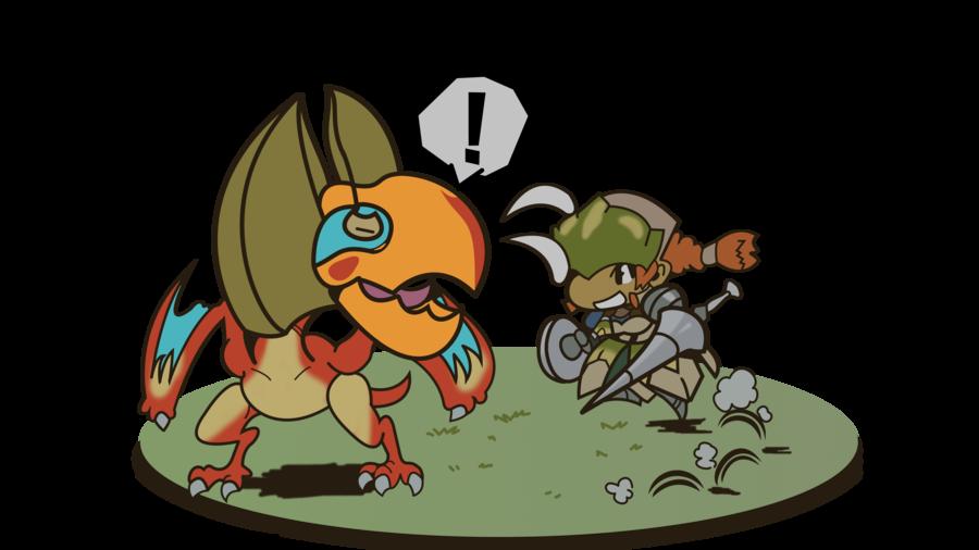 Monster scene kut ku. Hunter clipart jungle hunter