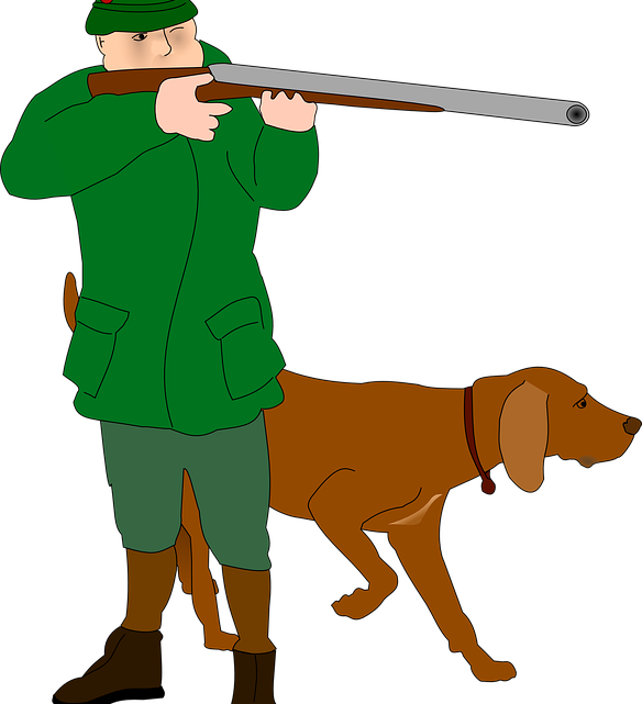 Hunter clipart man hunting. Fined for shooting horse